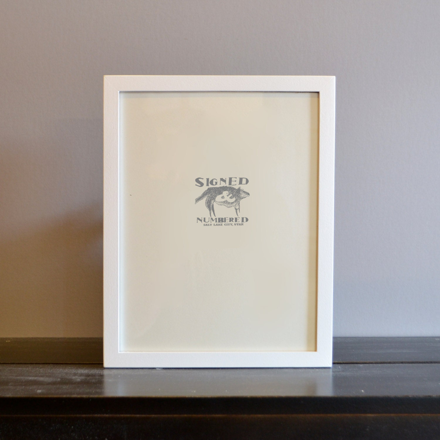 8.5 x 11 Picture Frame in Peewee Style with Solid White Finish ...