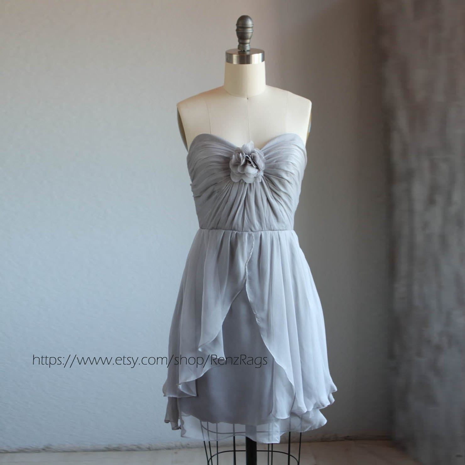 Medium gray bridesmaid dress wedding dress party dress zoom ombrellifo Choice Image