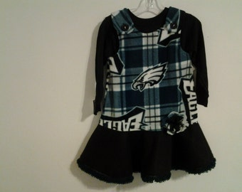 Girls fleece nfl sports dress