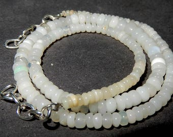 Fine Quality Natural Ethiopian opal Roundel Beads Necklace 3 to 5 MM Finest Quality 16'inch Long Strand Finest Quality In low prize GT1