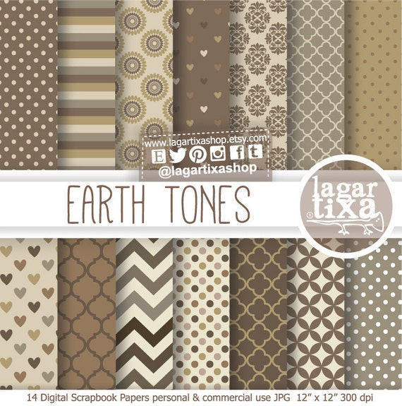 Earth Tones Neutral Beige Chocolate Brown Digital Paper Background