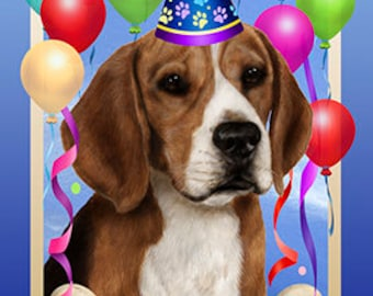 Beagle Personalized Birthday Flags