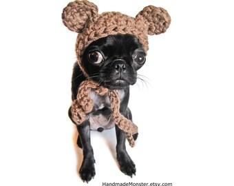 extra small pet costume CROCHET DOG HATS bear hat ewok star wars inspired pet costume custom cat photo props photography props