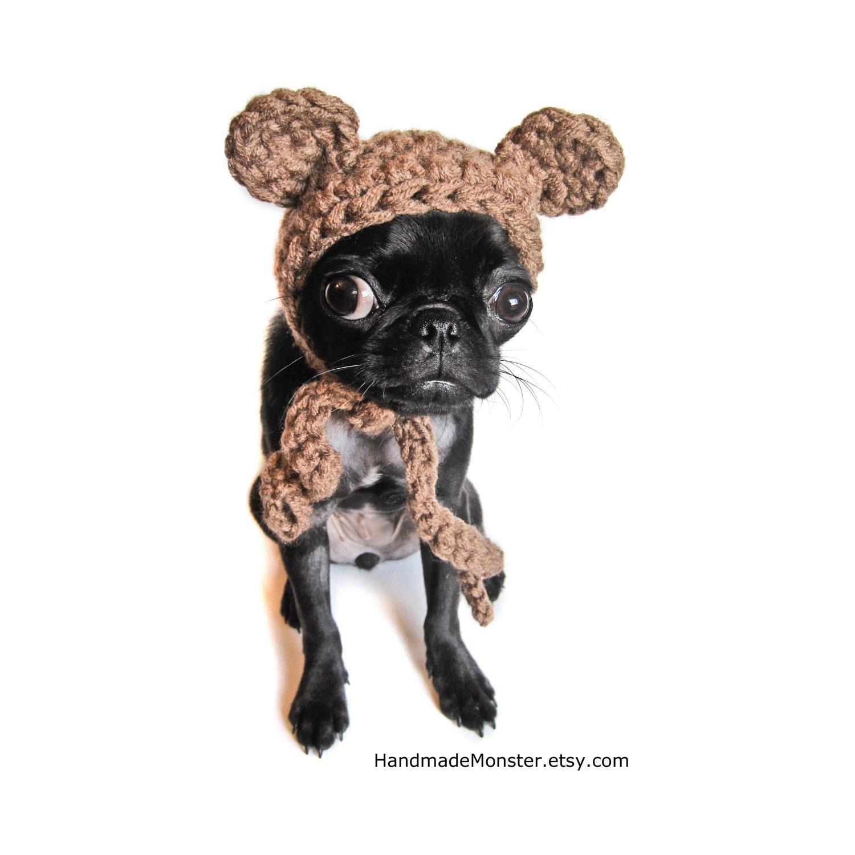 Ewok Hat: Extra Small Pet Costume CROCHET DOG HATS Bear Hat Ewok Star
