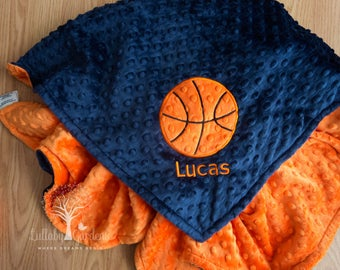 Basketball blanket etsy basketball personalized minky baby blanket gender neutral baby blanket personalized baby gifts appliqued negle Choice Image