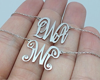 Personalized Monogram Necklace • Personalized Necklace • Monogram Jewelry • Personalized Jewelry • Christmas Gifts For Her • Bridesmaid Gift