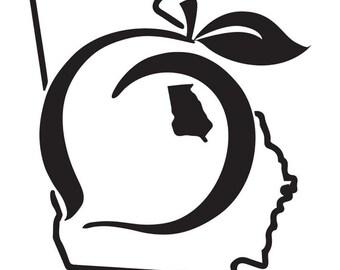 Georgia state peach sticker decal