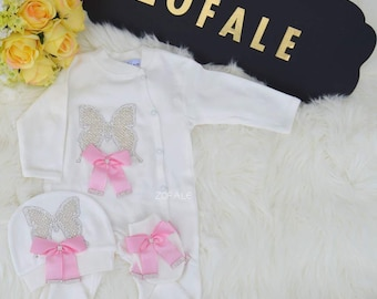 Take home outfit baby girl coming home outfit baby girl coming home outfit butterfly jewels butterfly outfit girl butterfly jewels set