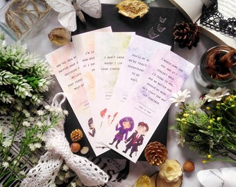 Set of 5 scented bookmarks