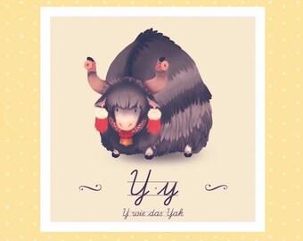 Tier-ABC - Y wie Yak