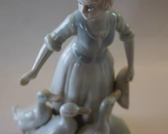 Duncan Royale Figurine: Peasant Girl with Ducks