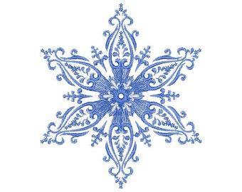 Weihnachten Schneeflocke Design - Eisblumen - Maschine Stickerei Schneeflocke Stickmuster - Instant Download