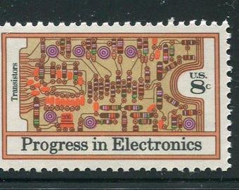 Electronics Progress Issue Of 1973/ 4 Unused Postage Stamps