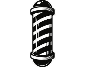Barber Pole #6 Salon Haircut Hair Cut Hairstyle Hairstylist Hairdresser Grooming Shaving Shave Groom.SVG .EPS .PNG Vector Cricut Cut Cutting