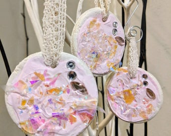 Shabby Chic Pink Sparkle Ornament