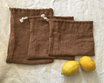 Set of Linen Produce Bags