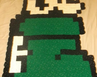 8-Bit Mario in a Boot Rug, Blanket, or Wall Hanging!