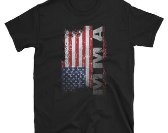 MMA T-Shirt - USA Flag MMA Shirt - Mixed Martial Arts Shirt - Cage Fighting Tee - Martial Arts Gifts For Men And Women