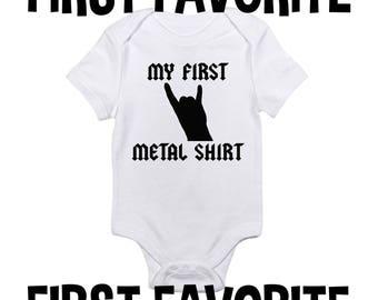 Ma première chemise métal bébé grenouillère Body chemise douche cadeau musique drôle mignon Unique nourrisson nouveau-né - 24 M grossesse faire-part naissance révèlent