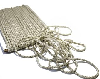 Braided cord Beige Gold 5 mm x 1 meter