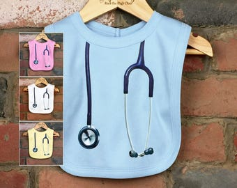 Stethoscope Baby Bibs, New Baby Gifts, Baby Clothes, Funny Baby Bibs, Baby Nurse, Baby Doctor, Nurse Gift, Baby Shower Gift, Stethoscope Bib