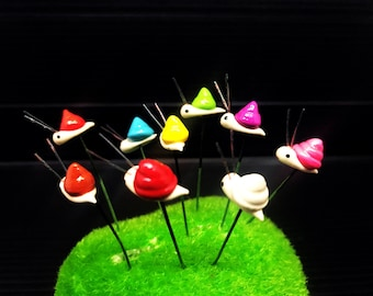 Set 5 pcs. Terrarium Mini Mixed Snail Stake Miniature Dollhouse Fairy Garden accessories