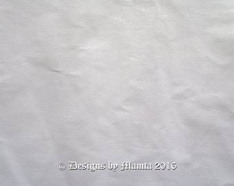 White Indian Solid Cotton Lining Fabric By The Yard, Cotton Lining Fabric, Cotton Fabric, Cotton Fabric By The Yard, Pure Indian Cotton