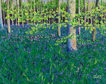Giclee print, Bluebell Forest III, 8 x 10 in.