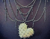 Hellraiser inspired heart and puzzlebox necklace Pinhead Horror Goth Gothic Movie