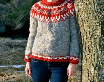 Freyja Icelandic Sweater - Handmade with 100% Pure Icelandic Wool