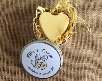 Handmade Natural Solid Lotion Bars, Lotion Bar Tin, Natural Skincare, Beeswax Lotion Bar, UK, Solid Lotion Bar, Beeswax Body Bar