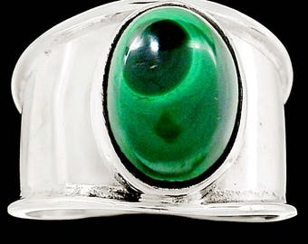 Malachite 925 Sterling Silver Ring Jewelry s.9