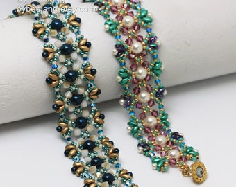 PDF Tutorial - Odelia Bracelet Beading Pattern Beadweaving Instruction Instant Download
