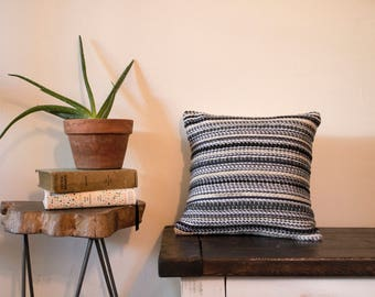 Small Night Stripes Pillow