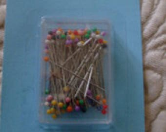 Needle head pins x 120 colors (sewing, knitting, designs...)