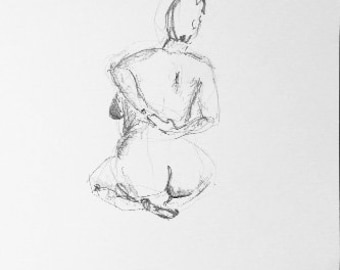 Seated Woman - A3 - Original Life drawing