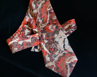 Wearable Art- Abstract Tie Vintage