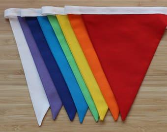 Rainbow bunting , rainbow garland, multicoloured bunting, handmade item