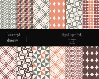 Groovy Baby - Instant Download - Digital Papers - digital scrapbooking - patterned paper, light texture - CU ok - Digital background