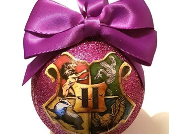 Wizard/Magic Hogwarts Christmas Tree Bauble/Decoration - choose your colours