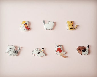 Neko Atsume, Neko Atsume earrings, Cat earrings, Cat stud earrings, Cat jewellery, Earrings, Cat collection, crazy cat lady,Cat lover gifts
