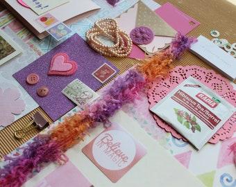 PenPal Kit - Happy Mail in PINK - Junk Journal Kit - Paper Ephemera - Collage Kit - Stationery - Writing Pack - 45 PCS