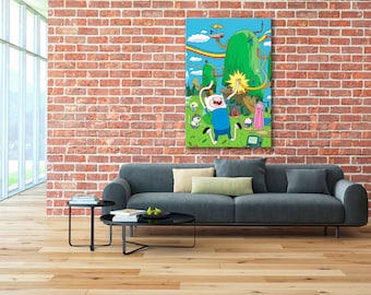 Adventure Time print, Adventure Time, Finn and Jake, Adventure Time canvas, Finn and Jake print, Finn and Jake canvas, Adventure Time Art