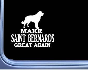 "Saint Bernard Maga L728 Dog Sticker 7"" Window Decal"