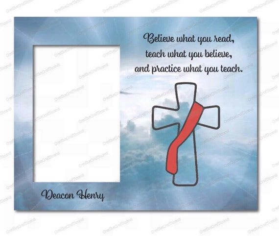 Personalized Deacon Ordination gift frame,  Deacon's charge, Christian Faith, Deacon frame, Ordination Frame, Deacon Appreciation gift