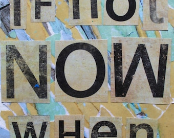 If Not Now When Collage Art Notecards -- Single or Set of 5 -- Blank Inside -- Envelopes Included
