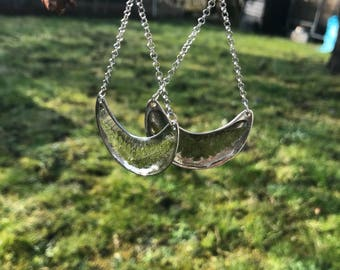 Ferns and Crescent earrings