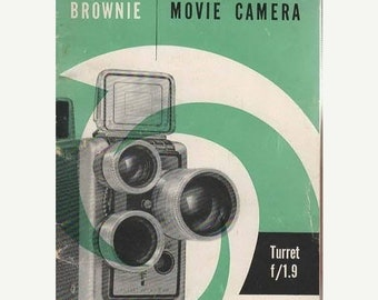 BTS Brownie Movie Camera Turret f/1.9 Brochure Eastman Kodak Company