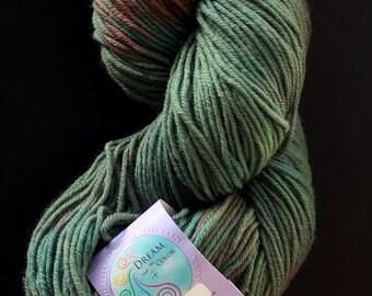 DESTASH dream in color classy worsted superwash australian merino green brown camo good luck jade