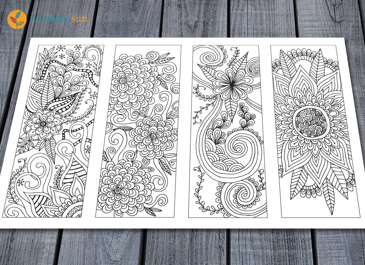 Adult Colouring Bookmarks Page Printable Colouring Pages